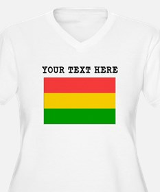 Custom Bolivia Flag Plus Size T-Shirt
