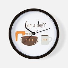 Cup A Joe? Wall Clock