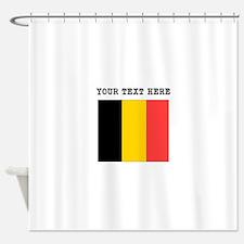 Custom Belgium Flag Shower Curtain