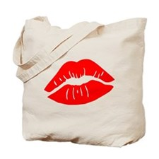 Red Lipstick Lips Tote Bag