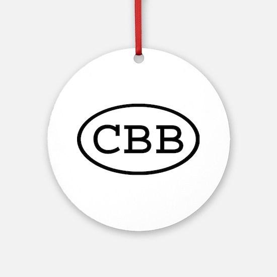 CBB Oval Ornament (Round)