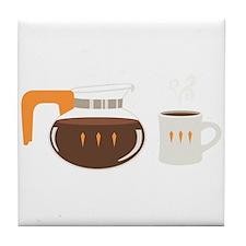 Coffee Pot Mug Tile Coaster