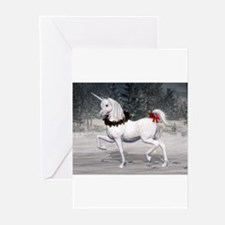 Cute Unicorn christmas Greeting Cards (Pk of 20)