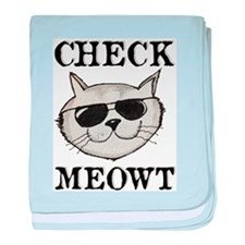 Check Meowt baby blanket