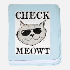 Check Meowt baby blanket