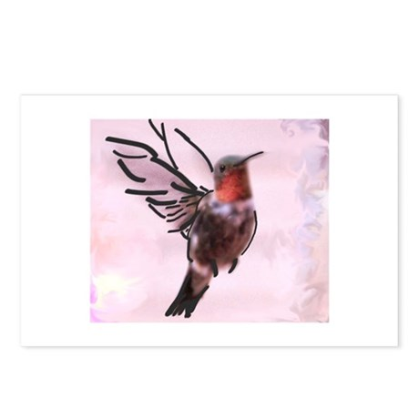 Hummingbird Calligraphy Postcards (Package of 8)