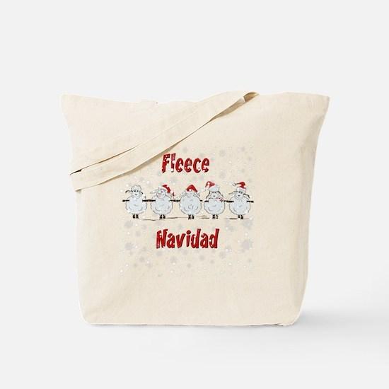 FUNNY Christmas  Fleece Navidad Sheep  Tote Bag