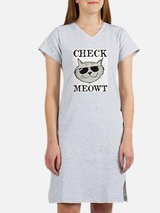 Check Meowt Women's Nightshirt
