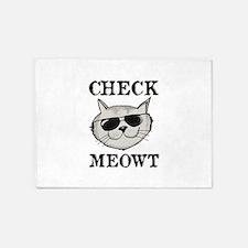 Check Meowt 5'x7'Area Rug