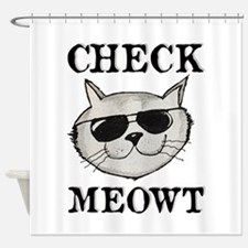 Check Meowt Shower Curtain