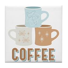 Coffee Cups Tile Coaster