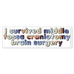 Middle fossa craniotomy - Sticker (Bumper)