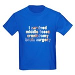 Middle fossa craniotomy - Kids Dark T-Shirt