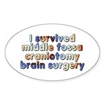 Middle fossa craniotomy - Sticker (Oval)