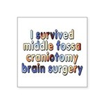 Middle fossa craniotomy - Square Sticker 3
