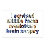 Middle fossa craniotomy - Postcards (Package of 8)