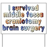 Middle fossa craniotomy - Yard Sign