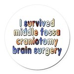 Middle fossa craniotomy - Round Car Magnet