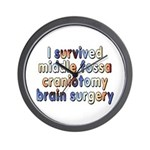 Middle fossa craniotomy - Wall Clock