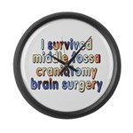 Middle fossa craniotomy - Large Wall Clock