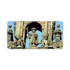 Cathedral of Santiago de Co Aluminum License Plate
