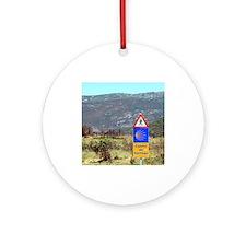 El Camino de Santiago de Composte Ornament (Round)