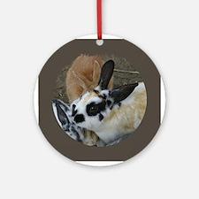 Rabbit Headstudy Ornament (Round)