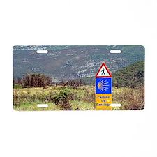 El Camino de Santiago de Co Aluminum License Plate