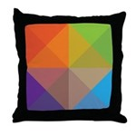 Geometric Triangles Squares Throw Pillow
