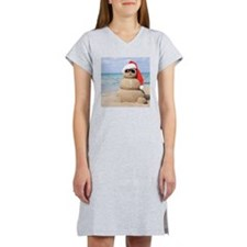 Beach Snowman Women's Nightshirt