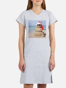 Beach Snowman Women's Nightshirt