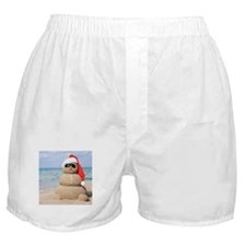 Beach Snowman Boxer Shorts