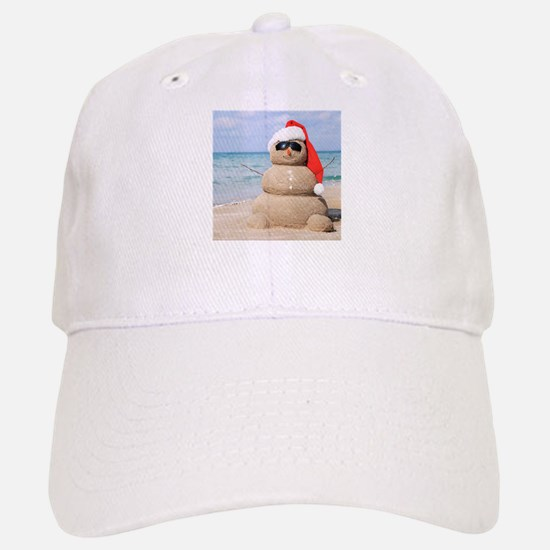 Beach Snowman Baseball Baseball Baseball Cap