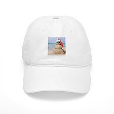 Beach Snowman Baseball Baseball Cap