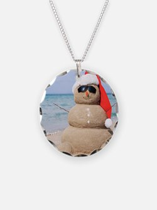 Beach Snowman Necklace