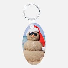 Beach Snowman Keychains