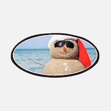 Beach Snowman Patches