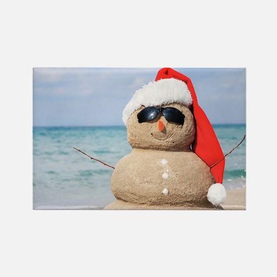 Beach Snowman Magnets
