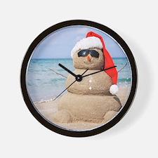 Beach Snowman Wall Clock