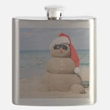 Beach Snowman Flask