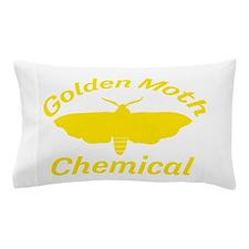 Golden Moth Chemical Pillow Case