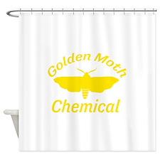 Golden Moth Chemical Shower Curtain