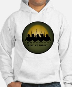 War Memorial Hoodie Sweatshirt Lest We Forget