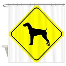 German short-Haired Pointer Crossin Shower Curtain
