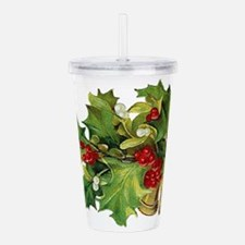 Christmas Holly.png Acrylic Double-wall Tumbler