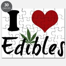 Cute I heart weed Puzzle
