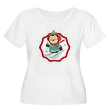 Skiing Pengui T-Shirt