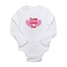 Cute Name claire Long Sleeve Infant Bodysuit