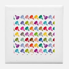 Colorful Badminton Tile Coaster