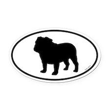 Bulldog Oval Car Magnet